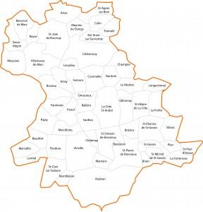 carte territoire contour